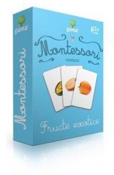 Cărți de joc Montessori: Vocabular. Fructe exotice