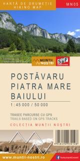 Hartă de drumeție - Postăvaru, Piatra Mare, Baiului
