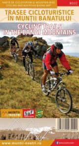 Hartă de cicloturism și mountain bike - Trasee cicloturistice în Munții Banatului