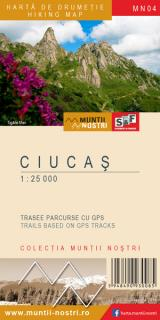 Hartă de drumeție - Ciucaș