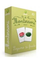 Carti de joc Montessori: Asocieri. Legume si fructe