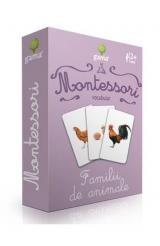 Carti de joc Montessori: Vocabular. Familii de animale