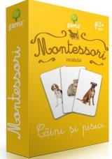 Cărți de joc Montessori: Vocabular. Câini și pisici