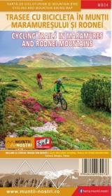 Hartă de cicloturism și mountain bike - Trasee cu bicicleta în Munții Maramureșului și Rodnei