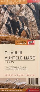 Hartă de drumeție - Gilău; Muntele Mare