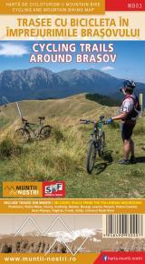 Hartă de cicloturism și mountain bike - Trasee cu bicicleta în împrejurimile Brașovului