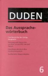 Duden 06. Das Aussprachewörterbuch