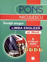 Învaţă singur limba engleză - at Work & 4 CD-uri audio