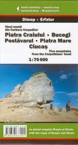 Cinci munţi din Curbura Carpaţilor: Piatra Craiului, Bucegi, Postăvarul, Piatra Mare, Ciucaş