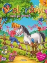 Colorăm 5: Cai şi ponei (Conţine abţibilduri!)
