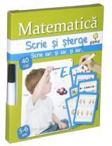 Scrie şi şterge: Matematică 5-6 ani